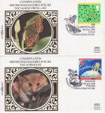 1992-09-13 Green Issue Stamps x4 Benham Silk FDC (75596)