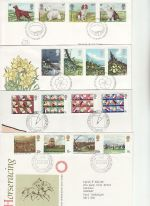 1979 Bulk Buy x8 First Day Covers with Bureau Pmks (75606)