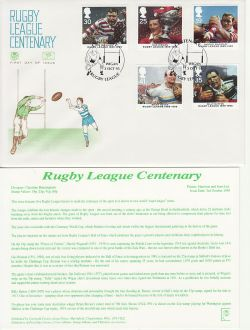 1995-10-03 Rugby League Stamps Wigan FDC (83051)