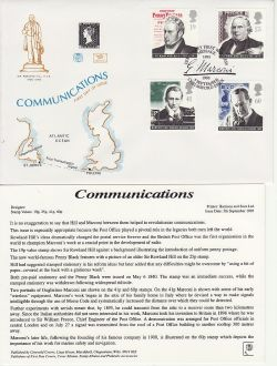 1995-09-05 Communications Stamps Chelmsford FDC (83052)
