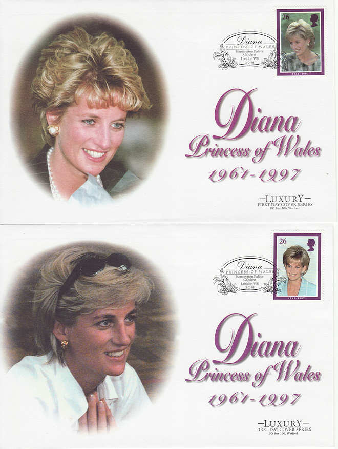 1998 02 03 Diana Stamps Kensington X5 Fdc 60945 First Day Cover
