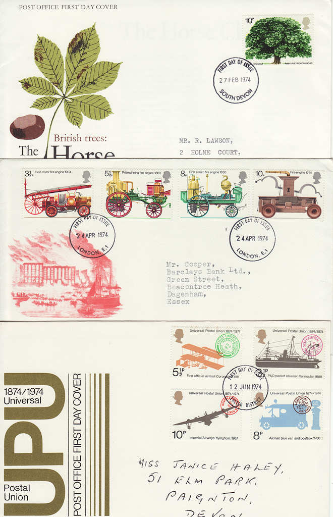1974 bulk buy cheap year set x6 fdc from 1974 65299 first day