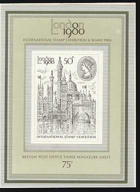 London 1980 International Stamp Exhibition Miniature Sheet Stamp 1980