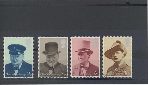 Sir Winston Churchill Stamps 1974