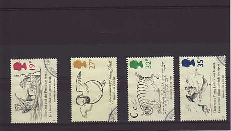 Edwar Lear Stamps 1988
