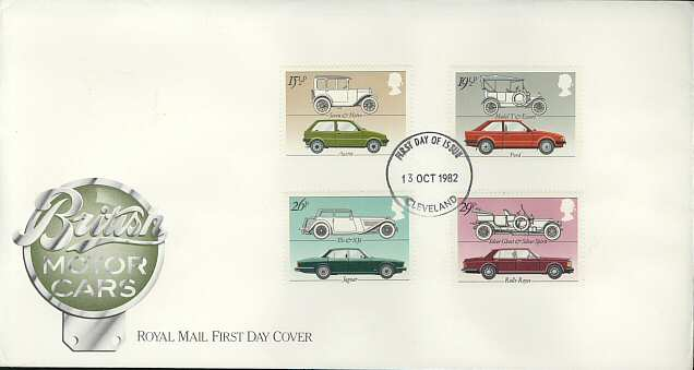 1982-10-13 Motor Cars Stamps FDC (3723)