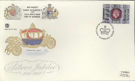 1977-06-15 Silver Jubilee Stamp Windsor FDC (3825)