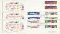 1981-11-18 Christmas Gutter Stamps FDC (45134)