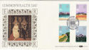 1983-03-09 Commonwealth Day London Silk FDC (47820)