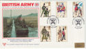 1983-07-06 British Army Silk Aldershot FDC (47839)
