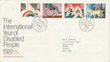 1981-03-25 Year of Disabled Bureau FDC (48261)