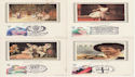 1982-04-28 Theatre Benham Postcards x4 FDC (50251)