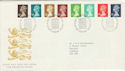 1988-08-23 Definitive Stamps Bureau FDC (50302)