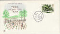 1973-02-28 Trees Stampex 73 London SW1 FDC (50396)