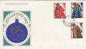 1972-10-18 Christmas Stamps Bartley cds FDC (50472)