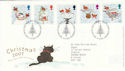 2001-11-06 Christmas Robins T/House FDC (50773)