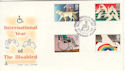 1981-03-25 Disabled Year Stoke Mandeville FDC (50780)