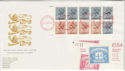 1984-09-03 Definitive Booklet Stamps Pane NPM EC1 FDC (50869)