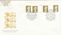 1997-04-21 Gold Definitive Doubled London FDC (51049)