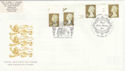 1997-04-21 Gold Definitive Doubled London FDC (51051)