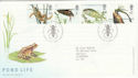 2001-07-10 Pond Life Oundle FDC (51094)