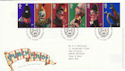 2001-09-04 Punch and Judy T/House FDC (51096)