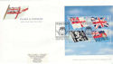 2001-10-22 Flags & Ensigns M/Sheet Chatham FDC (51339)