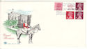 1980-08-27 10p Booklet + 11p PCP Stamps Windsor FDC (51736)
