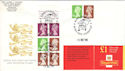 1998-12-01 FH42 Booklet Stamps RM London FDC (52083)