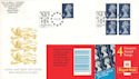 1999-01-19 HF1 Booklet E Stamps Waterloo Stn FDC (52085)