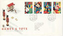 1989-05-16 Games and Toys Stamps Leeds FDC (52151)