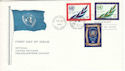 1970-06-26 United Nations 25th Anniv Stamps FDC (52476)