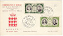 1956-04-19 Monaco Royal Wedding Stamps FDC (52549)