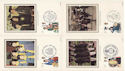 1982-03-24 Youth Orgs Benham Silk Postcards FDC (52594)