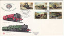 1985-01-22 Famous Trains Penzance Cornwall FDC (52971)