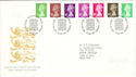 1996-06-25 Definitive Stamps Bureau FDC (H-53074)