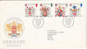 1984-01-17 Heraldry Stamps London EC FDC (53271)