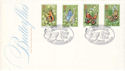 1981-05-13 Butterflies Stamps Quorn Loughborough FDC (53676)