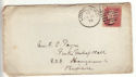 1875 QV 1d Red Plate 157 used on Cover (54406)