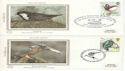 1980-01-16 Birds Benham Sml Silks Set of 4 FDC (54421)