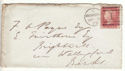 1873 QV 1d Red Plate 166 used on Cover (54459)
