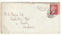 1866 QV 1d Red Plate 91 Used on Cover (54460)