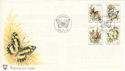1980-11-13 Venda Butterflies Stamps FDC (54694)