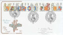 1998-02-24 Queen's Beasts Stamps Windsor FDC (54951)