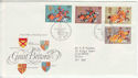 1974-07-10 Medieval Warriors Stamps Bureau FDC (55022)