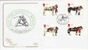 1997-07-08 Queen's Horses Windsor Great Park FDC (55062)