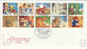 1994-02-01 Greetings Stamps Charlotte St London FDC (55083)