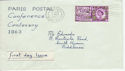 1963-05-07 Paris Postal Conference Harrow FDC (55362)