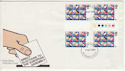 1979-05-09 Elections Stamps 9p Gutters FDC (55471)
