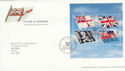 2001-10-22 Flags and Ensigns M/S Rosyth FDC (55725)